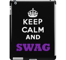 keep calm and swag iPad Case/Skin