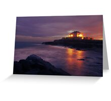 High Tide Sunset Greeting Card