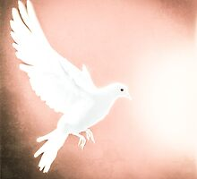 Dove in Flight Red by YoPedro