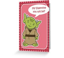 Yoda Valentine's Day card Greeting Card