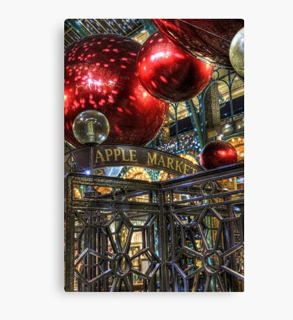 Apple Market Canvas Print