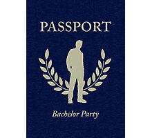 bachelor party passport Photographic Print