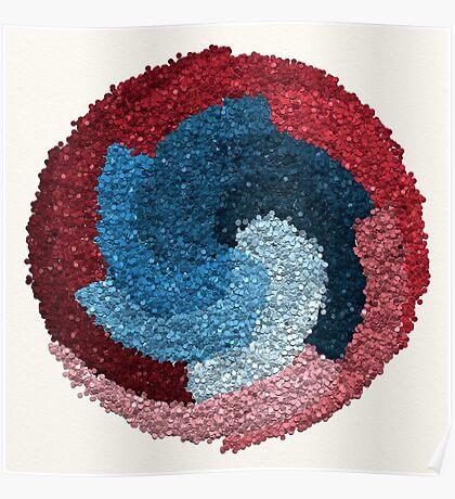Healing Manadala - Two Colors, Many Tones Poster