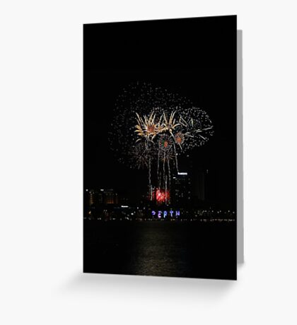 Perth Fireworks  Greeting Card