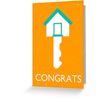 congrats homekey Greeting Card