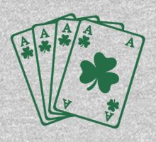 Poker cards shamrocks One Piece - Short Sleeve