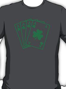Poker cards shamrocks T-Shirt