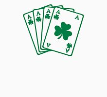 Poker cards shamrocks Unisex T-Shirt