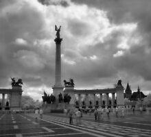 Hősök tere, Budapest by Rodney Johnson