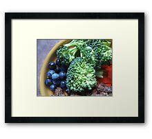 Blueberry & Broccoli Framed Print