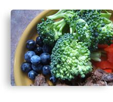 Blueberry & Broccoli Canvas Print