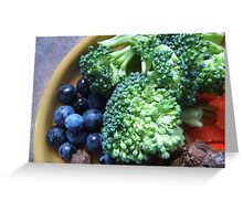 Blueberry & Broccoli Greeting Card