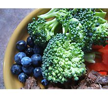 Blueberry & Broccoli Photographic Print