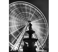 The 'Budapest Eye' overlooking Danubius Fountain in Erzsebet Square Photographic Print