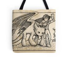 Hiccup and Toothless Tote Bag