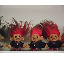 Trolls on a Shelf Photographic Print
