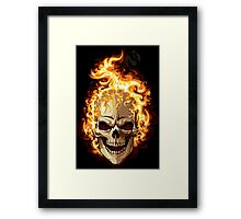 Fire Skull Ghost Rider Framed Print