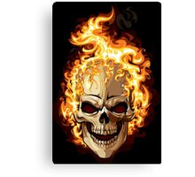 Fire Skull Ghost Rider Canvas Print