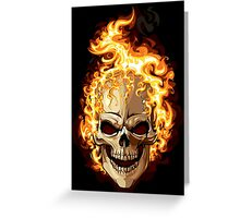 Fire Skull Ghost Rider Greeting Card