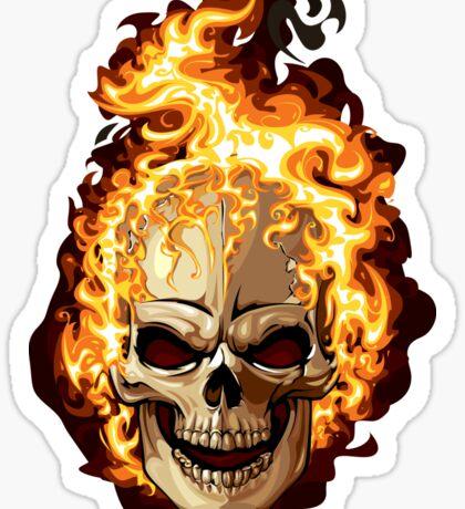 Fire Skull Ghost Rider Sticker