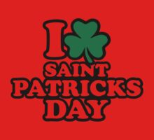 I love St. Patrick's day One Piece - Short Sleeve