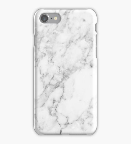 White Marble Print iPhone Case/Skin