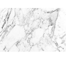 White Marble Print Photographic Print