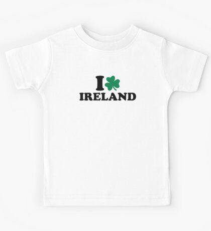 I love Ireland shamrock Kids Tee