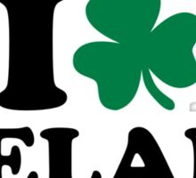 I love Ireland shamrock Sticker