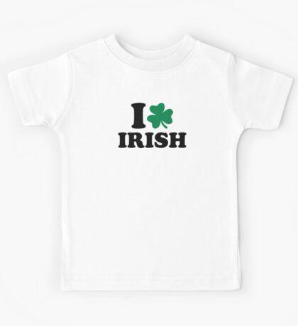 I love Irish shamrock Kids Tee