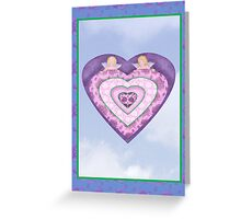 Cupids with Hearts and Roses Greeting Card