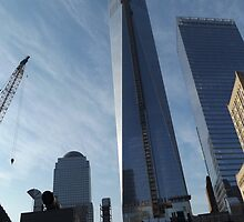 The New World Trade Center Begins to Near Completion, Lower Manhattan, New York City by lenspiro