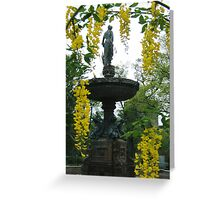 Spring Fountain, Halifax Public Gardens  Greeting Card