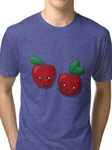 Kawaii apple  Tri-blend T-Shirt