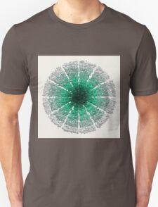 Green and Silver Mandala for Meditation T-Shirt