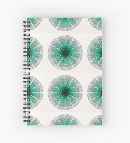 Green and Silver Mandala for Meditation Spiral Notebook