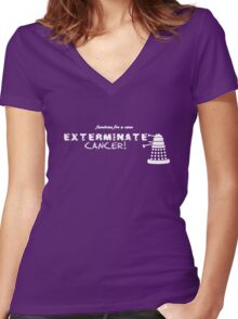 Daleks for a Cure Women's Fitted V-Neck T-Shirt