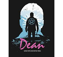 I Hunt, Therefore I Am (Dean - Supernatural & Drive) Photographic Print