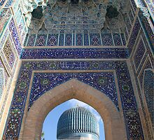 Blue Arch, Blue Dome, Samarkand by Jane McDougall
