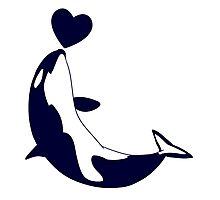 Love Orcas Photographic Print