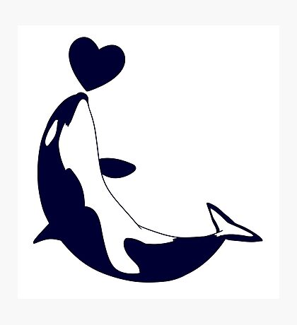 Love Orcas Photographic Print