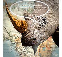the balls of the Rhino poachers Photographic Print