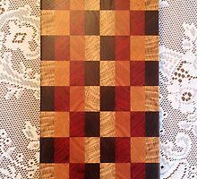 End-Grain Checkerboard Bread Board by Robert's Woodworking Studio