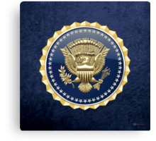 Presidential Service Badge - PSB 3D on Blue Velvet Canvas Print