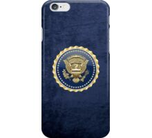 Presidential Service Badge - PSB 3D on Blue Velvet iPhone Case/Skin