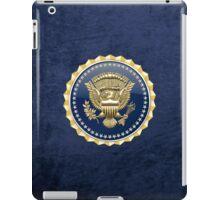 Presidential Service Badge - PSB 3D on Blue Velvet iPad Case/Skin