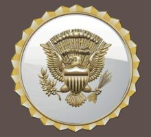 Vice Presidential Service Badge 3D on Red Velvet Kids Clothes
