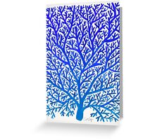 Fan Coral – Blue Ombré Greeting Card