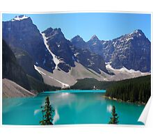 Picturesque Morraine Lake Poster