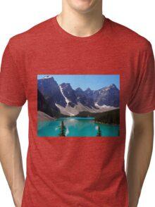 Picturesque Morraine Lake Tri-blend T-Shirt